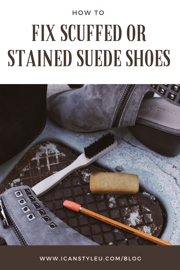 How to Fix Scuffed or stained suede shoes.