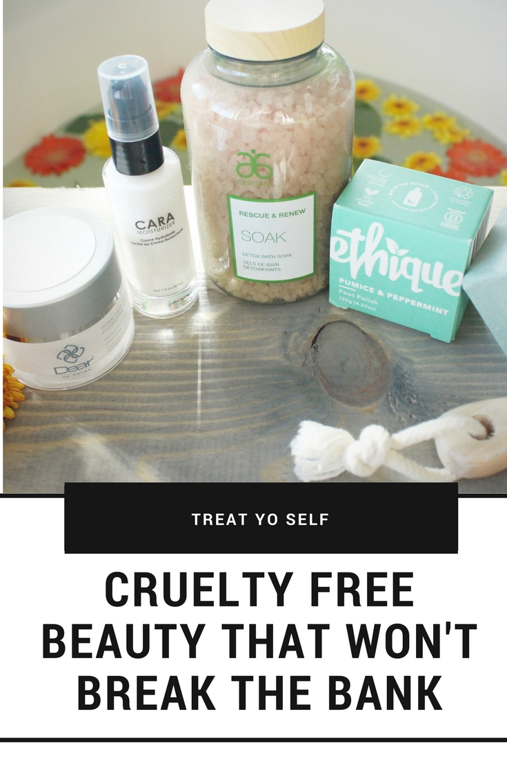 Cruelty Free Beauty Products fro an at home spa day that won;t break the bank.