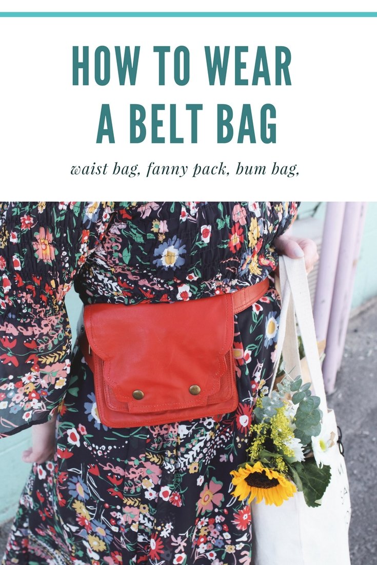 How to wear a belt bag, fanny pack, bum bag or waist bag.