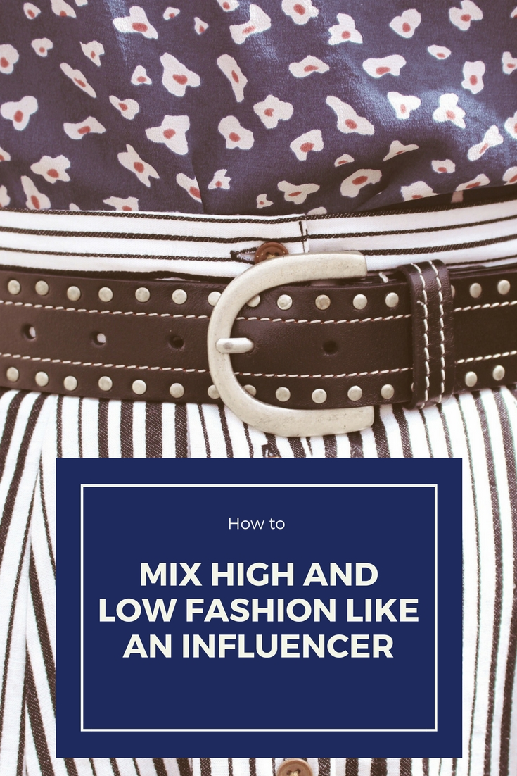 How to Mix High and Low Fashion Like an Influencer