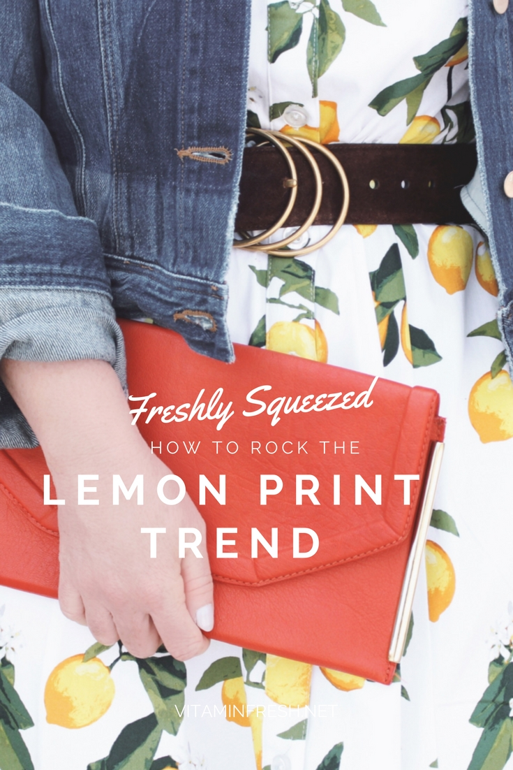 How to Rock the Lemon Print Trend
