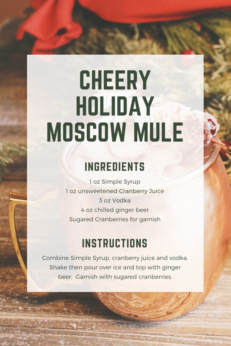 Cheery Holiday Moscow Mule