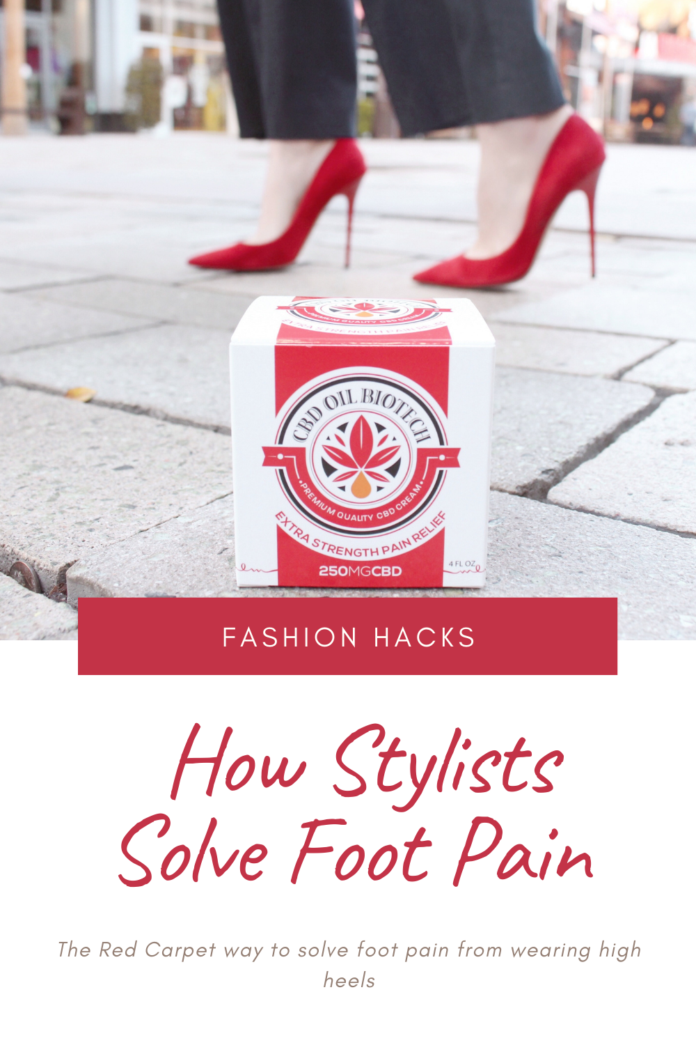 How to solve foot pain from wearing high heels
