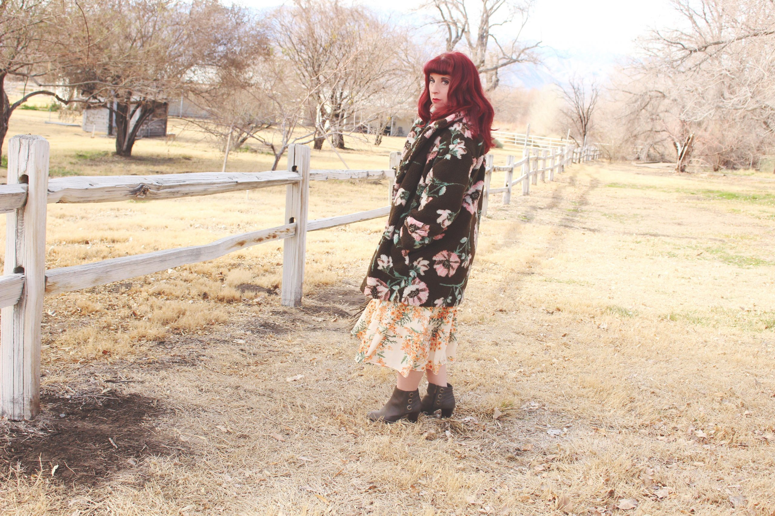How to Wear Florals During the Winter