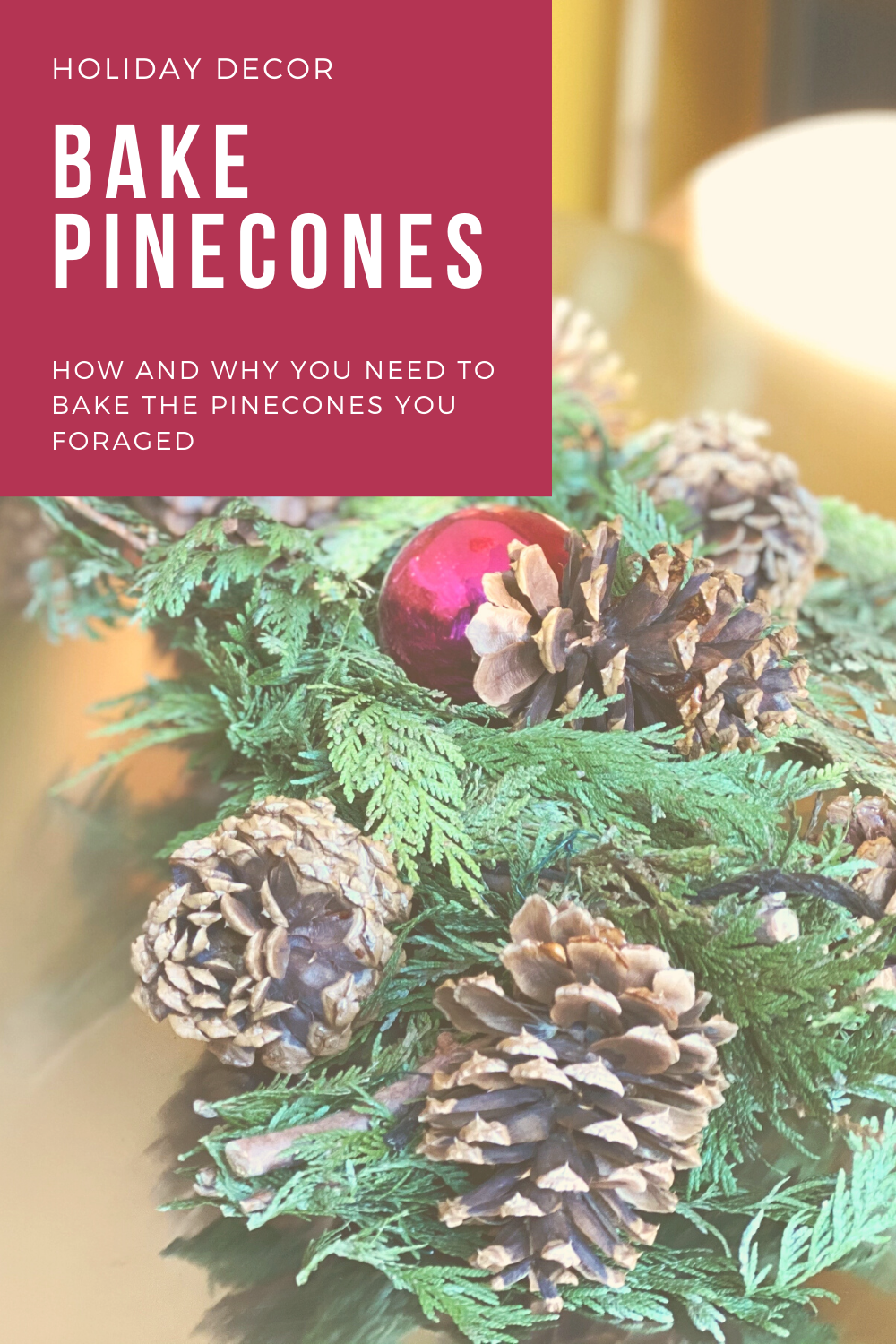 How to bake Pinecones